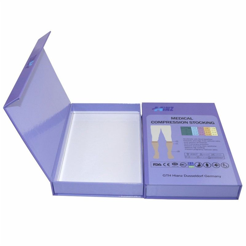 Recycled Art Paper Packaging Paper Box For Medical Compression Socking