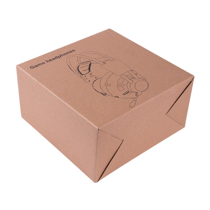 Custom Design Kraft Paper Packaging Box for Electric Products Sports Earphone