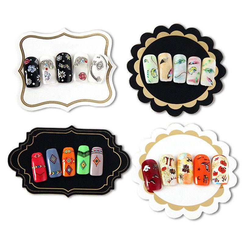 FSC BSCI Specialty Paper Display Card For Nail Cosmetology Products