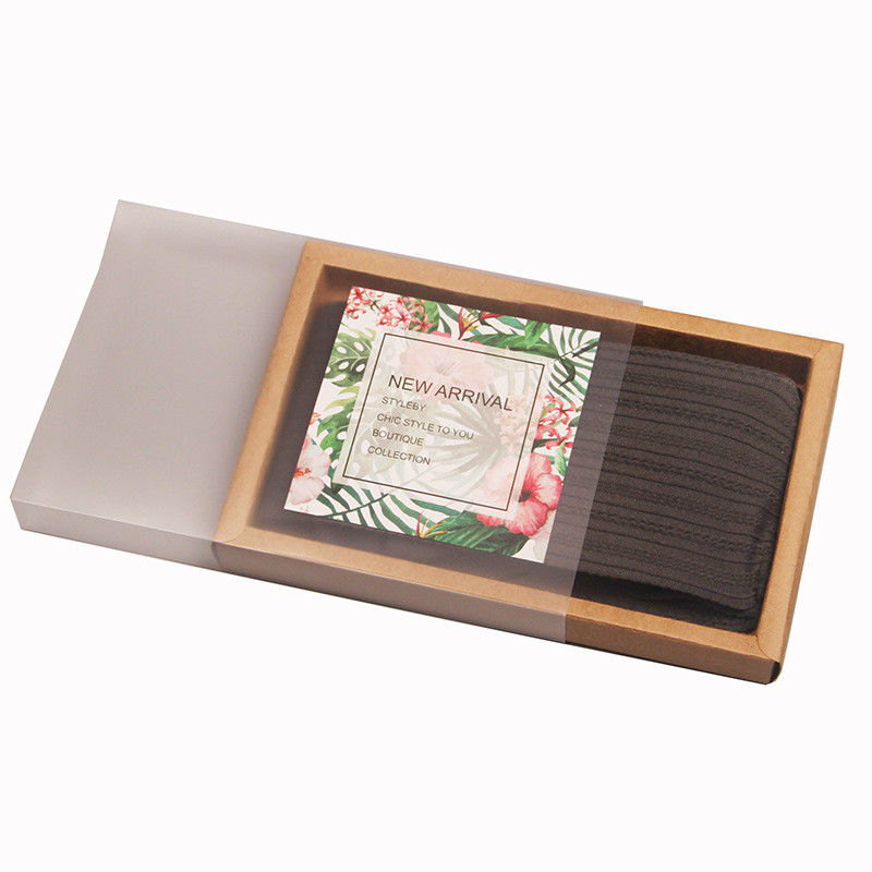 Kraft Drawer Style Scented Cardboard Tea Packaging , Recycle Tea Paper Box