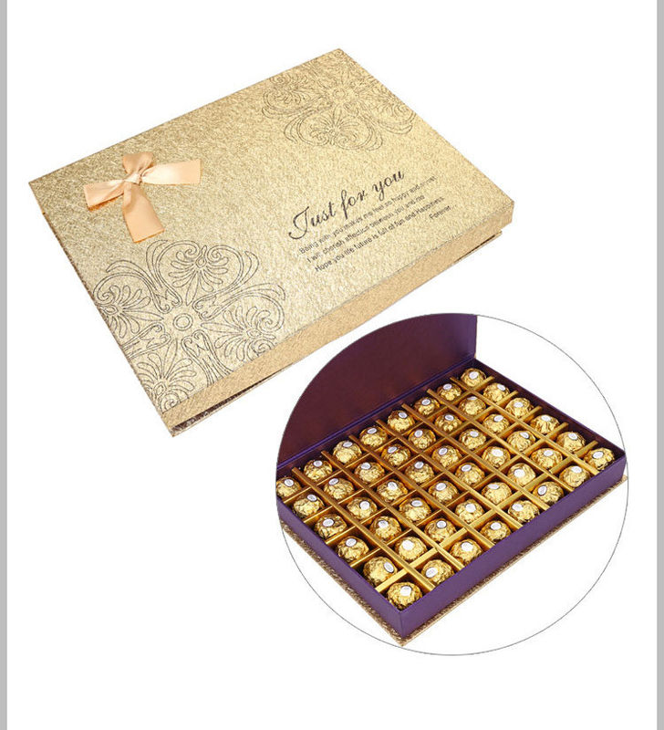 Custom Grey Cardboard Chocolate Packaging Gold Stamping Paper Packaging Box