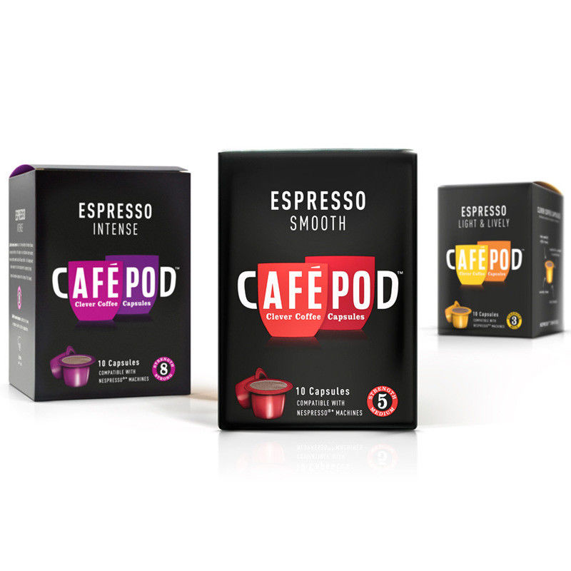 Eco Friendly Espresso Custom Coffee Packaging UV Coating 110gsm - 230gsm
